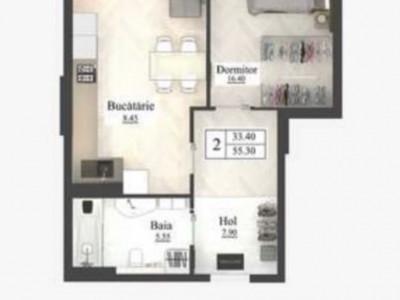 Newton House, apartament cu odaie și salon cu bucatarie
