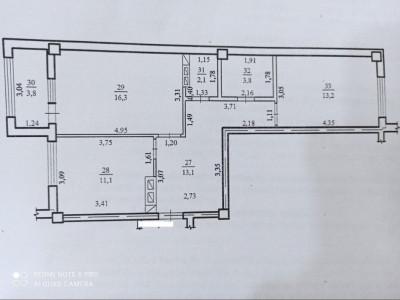 Apartament cu 2 odăi, variantă albă
