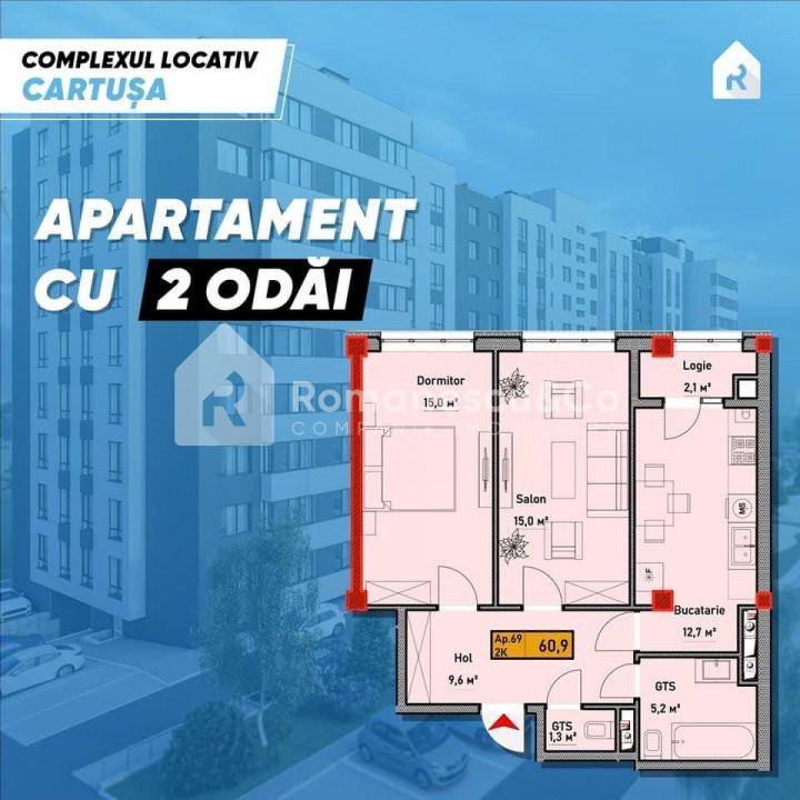 Apartament cu 2 odai  1