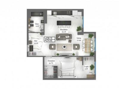 Apartament cu 2 odăi, Constantin Stere!