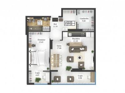 Apartament CENTRU 2 odăi, complexul căutat de toți!