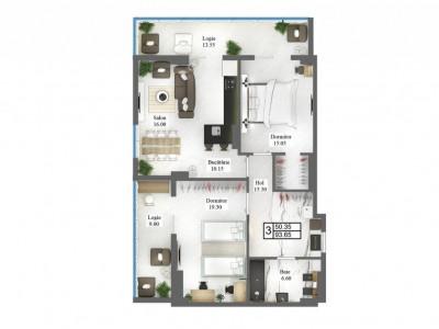 Apartament 3 odăi centru, bloc de lux!!!